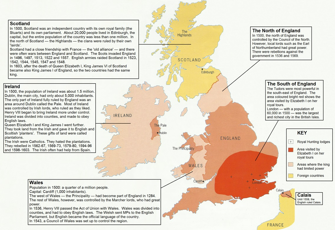 Map Of England Henry Viii.Key Stage 3 At Www Johndclare Net