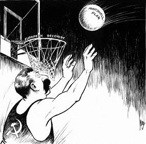 Apus B Post War Foreign Political Cartoons. Iron Curtain