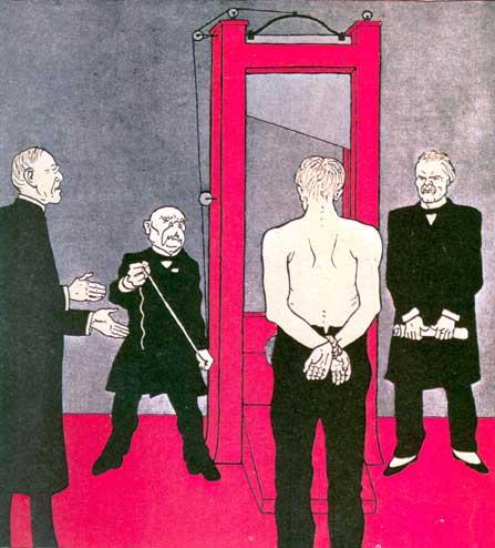 German cartoon of 1919 attacking the Treaty